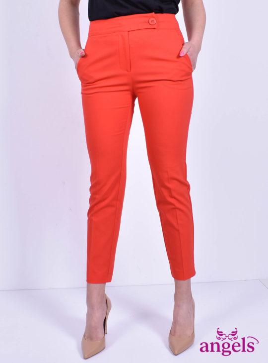 Κόκκινο γυναικείο παντελονι NEJMA||Υφασμάτινα Παντελόνια||Angels Fashion