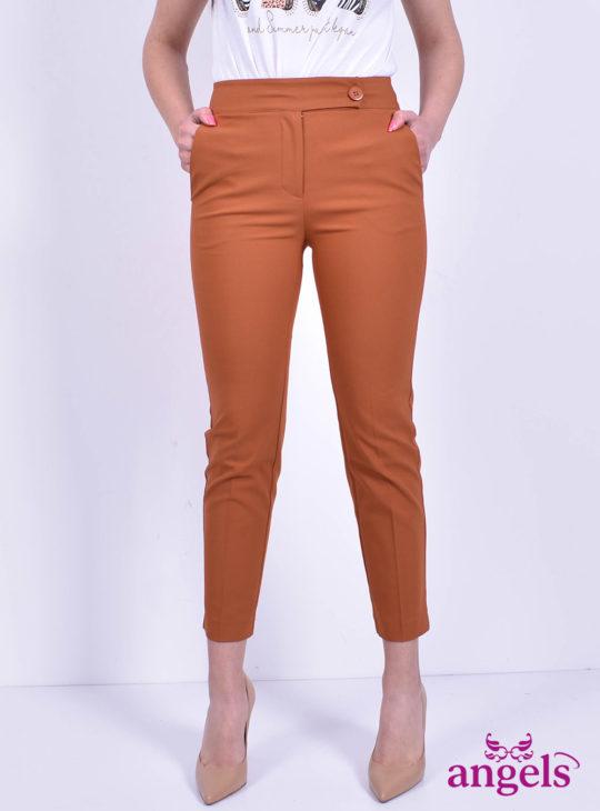 Κεραμιδί γυναικείο παντελονι NEJMA||Υφασμάτινα Παντελόνια||Angels Fashion