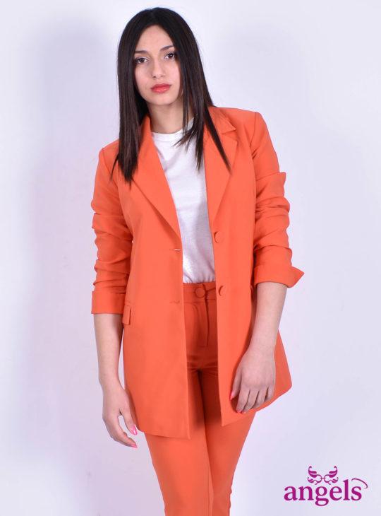 Γυναικείο Σακάκι Πορτοκαλί Le Vertige||Angels Fashion