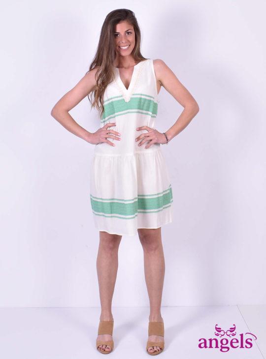 Μίνι Φόρεμα Με Πράσινι Ρίγα