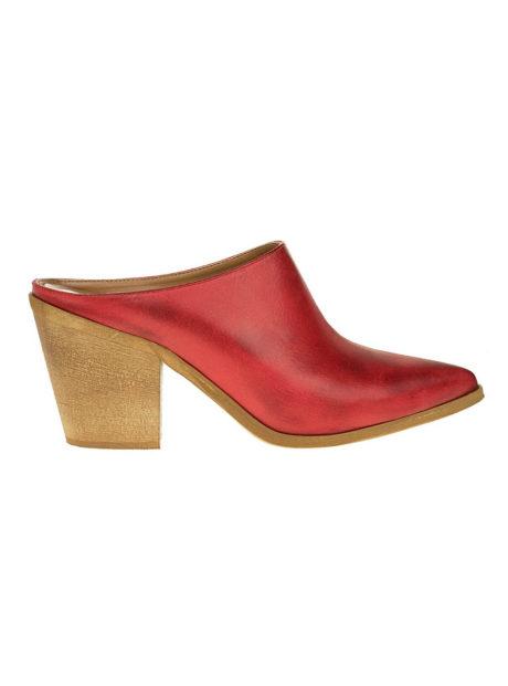 3b79c4227d Δερμάτινα Cowboy Mules Κόκκινα - Angels Fashion