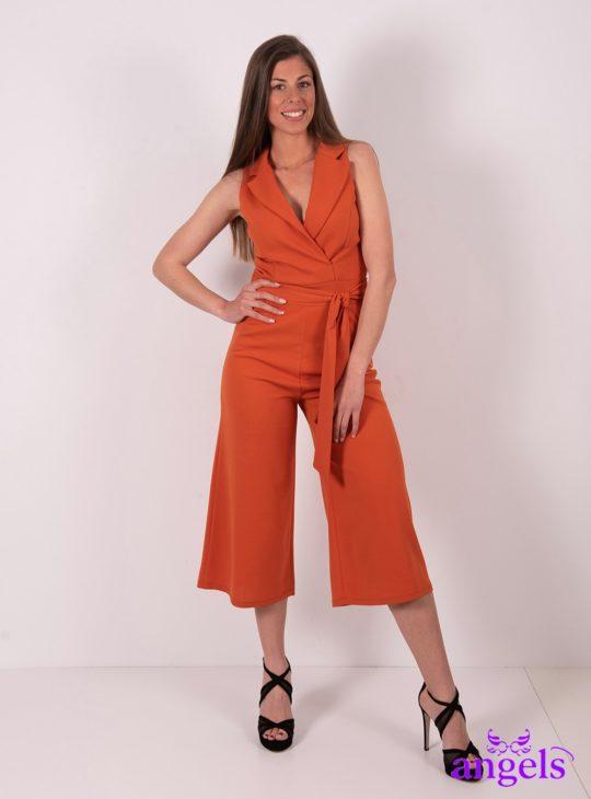 Πορτοκαλί κρουαζέ ολόσωμη φόρμα||Ολόσωμες Φόρμες||Jumpsuits