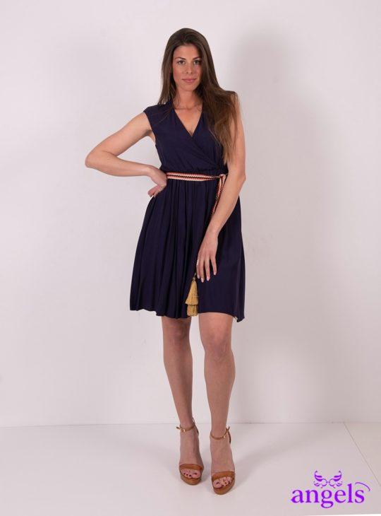 Μπλε φόρεμα μίνι