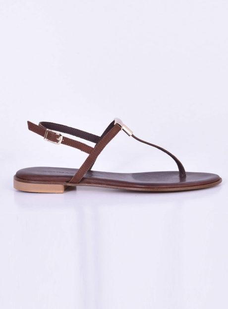 131dda6bbf2 Καφέ δερμάτινα πέδιλα/σανδάλια||Γυναικεία Καλοκαιρινά Παπούτσια