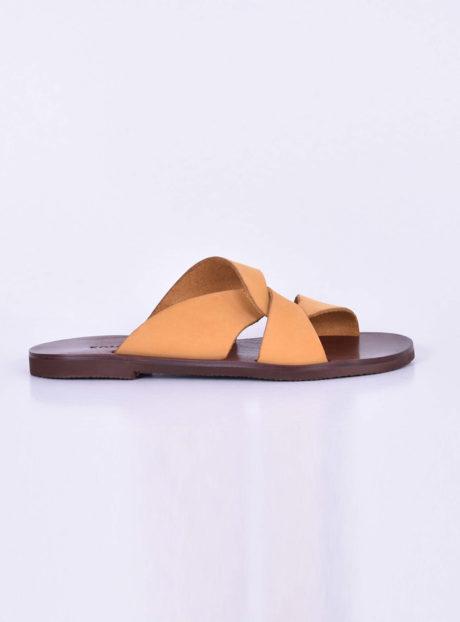 cc75f1f30b2 Κίτρινα δερμάτινα πέδιλα/σανδάλια||Γυναικεία Καλοκαιρινά Παπούτσια