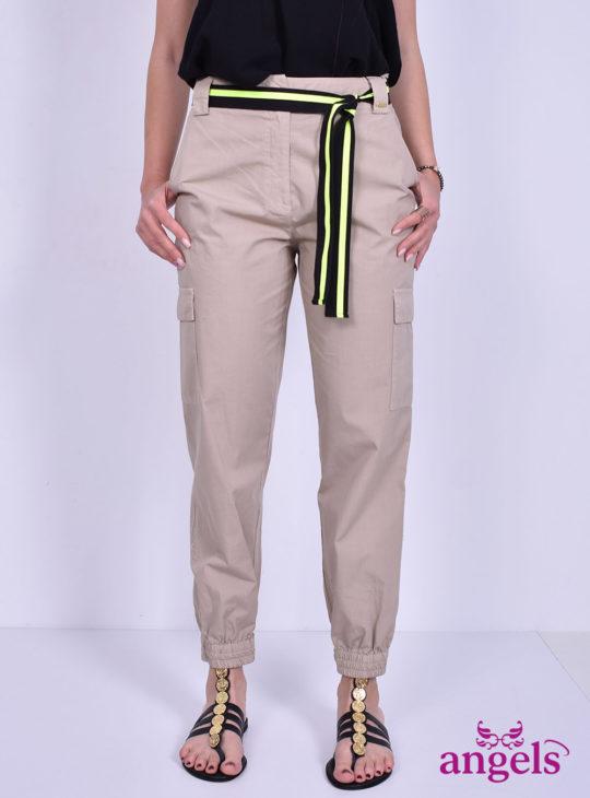 cargo γυναικείο παντελόνι μπεζ