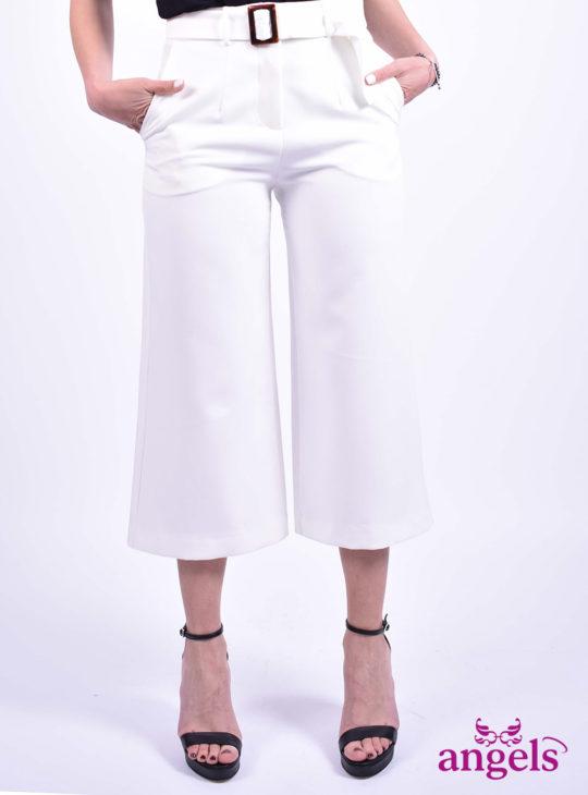 Λευκή Ζιπ Κιλότ||Γυναικεία Ρούχα||Γυναικεία Παντελόνια