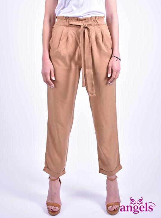 Paperbag Γυναικείο Παντελόνι||Edward Jeans||Υφασμάτινο Παντελόνι