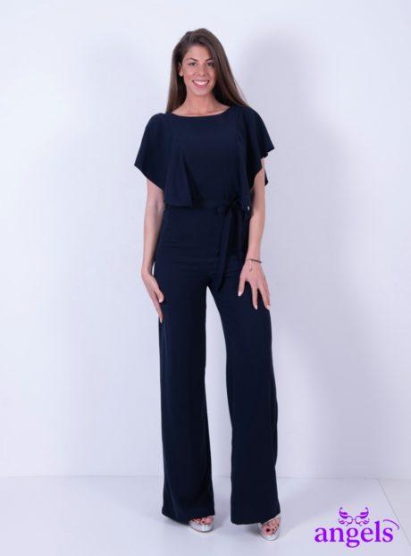 b10105ec936 Μπλε Ολόσωμη Φόρμα Κοντομάνικη - Angels Fashion