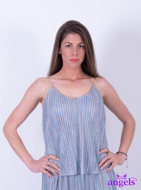 Ριγέ Πούχρωμη Μπλούζα ||Γυναικείες Μπλούζες||Γυναικεία ρούχα ,παπούτσια και αξεσουάρ Angels Fashion
