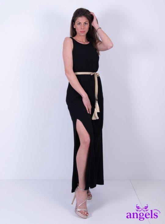Μαύρο Μάξι Φόρεμα Αμάνικο||Γυναικεία Ρούχα||Καλοκαιρινά Φορέματα||
