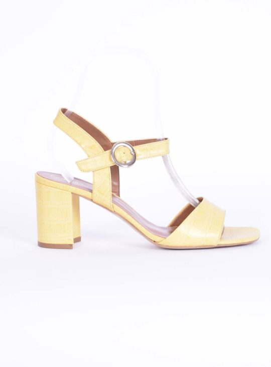 Κροκό κίτρινο πέδιλο Fardoulis Shoes
