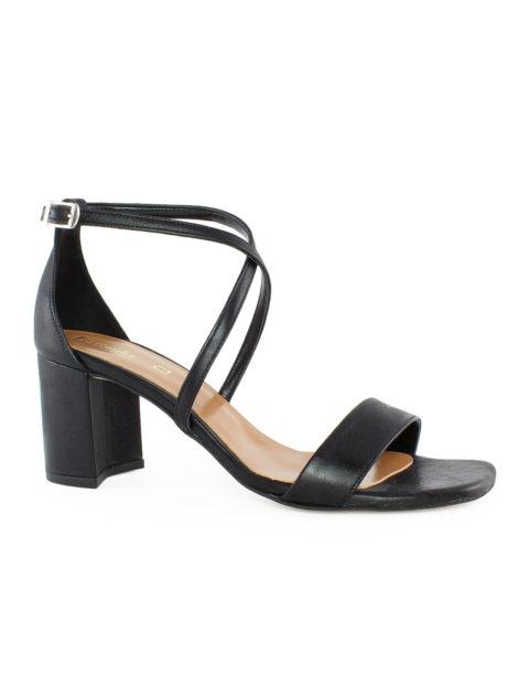 Μαύρα γυναικεία πέδιλα δερμάτινα Fardoulis shoes