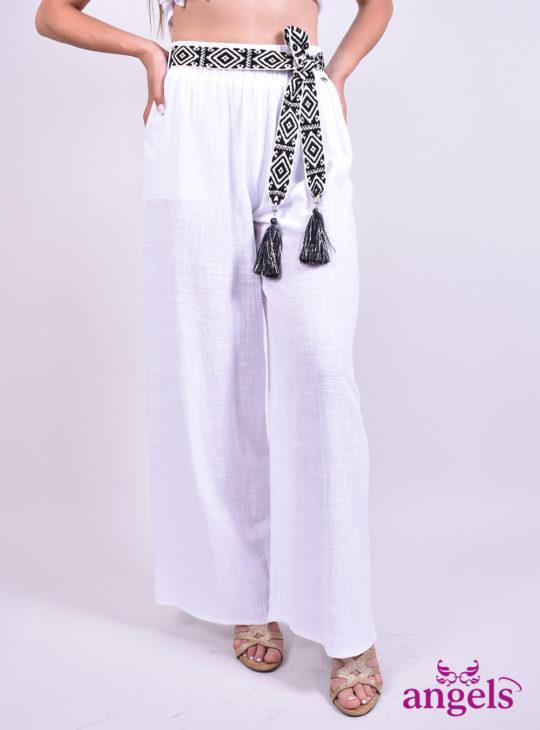 Άσπρη Αέρινη παντελόνα ||Παντελόνες