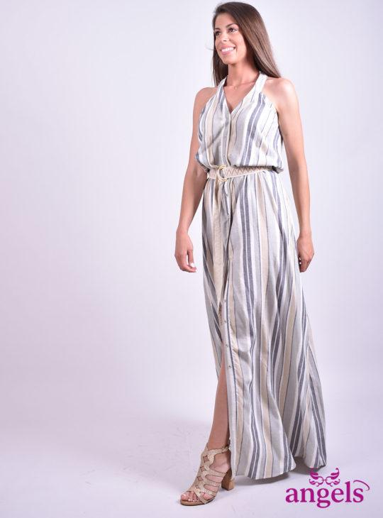 Ριγέ Φόρεμα||Φορέματα
