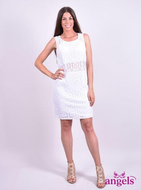 Άσπρο Δαντελένιο Φόρεμα||Φορέματα