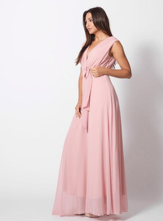 Μάξι Φόρεμα Ροζ/Nude ||Γυναικεία ρούχα Φορέματα