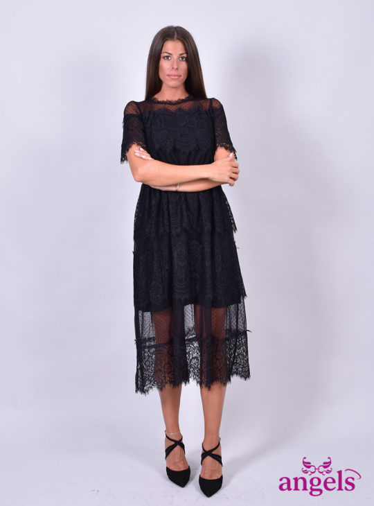 Μαύρο Φόρεμα Δαντέλα||Le Vertige||White22