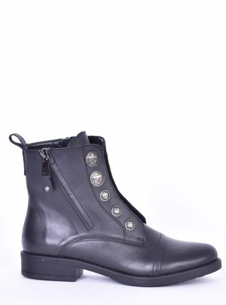 Μαύρα Δερμάτινα μποτάκια Fardoulis shoes
