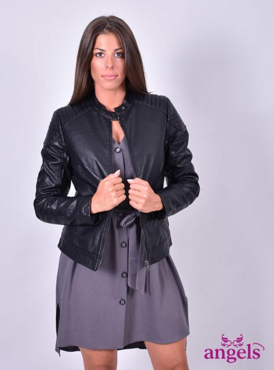 Μαύρο Μπουφάν Δερματίνη  Splendid  Γυναικείο Μπουφάν