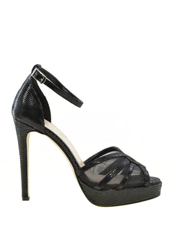Μαύρα Δερμάτινα Πέδιλα Fardoulis Shoes ||Γυναικεία Πέδιλα Για Γάμο/Βάπτιση