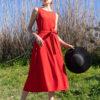 Κόκκινο Φόρεμα Μίντι