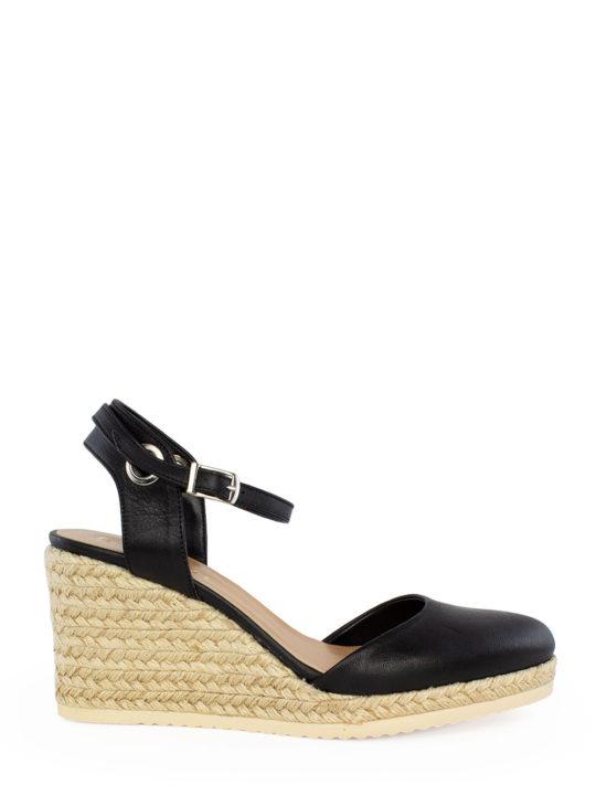 Fardoulis Shoes Μαύρες Δερμάτινες Εσπαντρίγιες