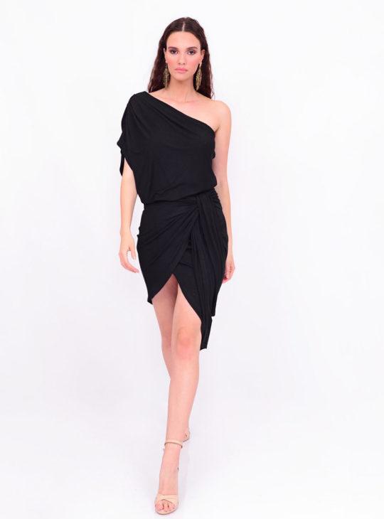 Μαύρο Φόρεμα Με έναν ώμο WE COSS