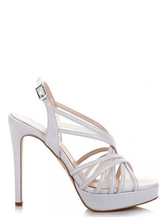 Δερμάτινα Πέδιλα Για γάμο/βάπτιση Fardoulis shoes σε ιβουάρ χρώμα 3044Λ