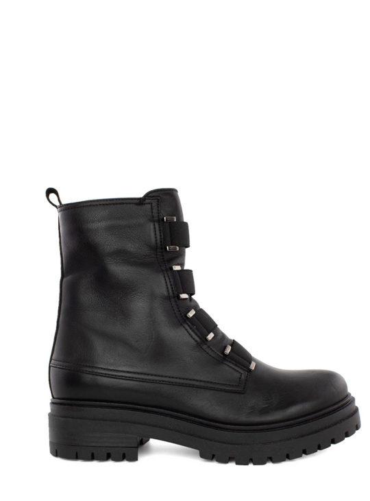 Μαύρα Δερμάτινα Αρβυλάκια Fardoulis Shoes||Γυναικεία μποτάκια