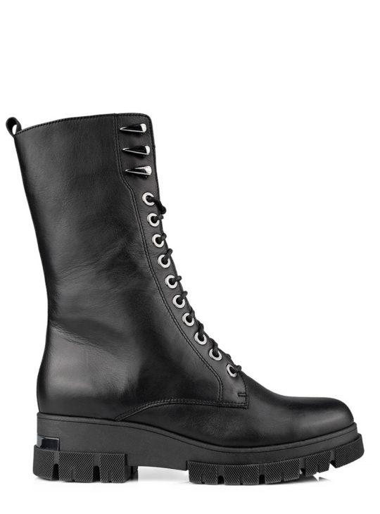Μαύρα δερμάτινα αρβυλάκια Fardoulis shoes 8410