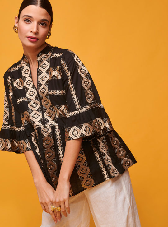 NEMA Luxury Collection Μπλούζα με κέντημα KIRKI