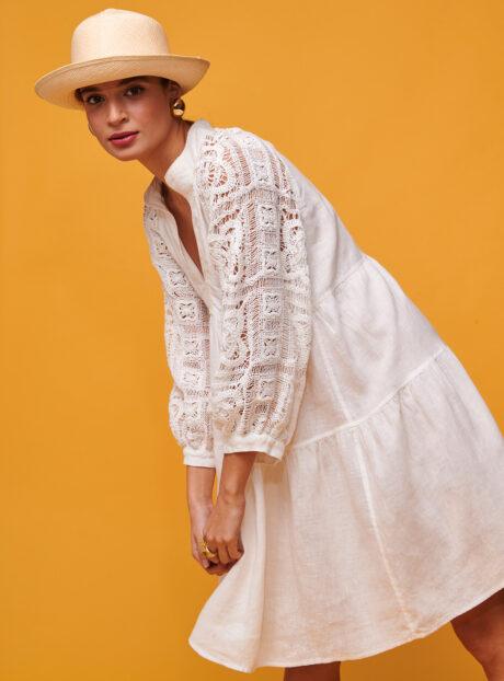 NEMA Φόρεμα Με Πλεκτά μανίκια NATALIA DRESS