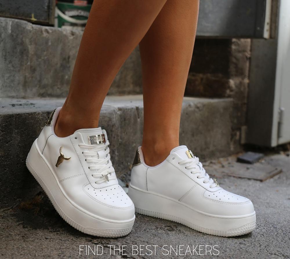 Γυναικεία Δερμάτινα SNEAKER||Γυναικεία Αθλητικά Παπούτσια